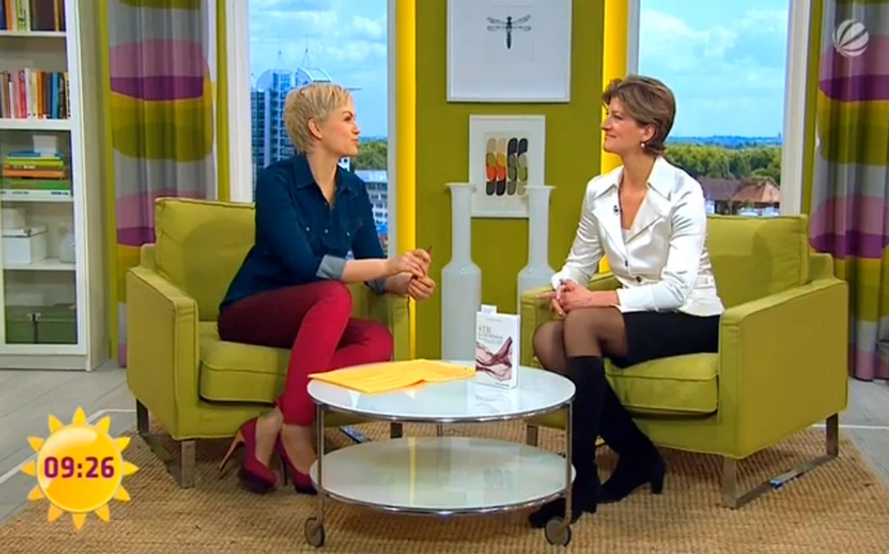 Katharina Starlay im Talk mit Karen Heinrichs (SAT1)